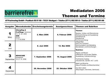 Mediadaten 2006 Themen und Termine 1 2 3 4 - AT-Fachverlag ...