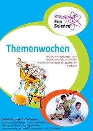Info-Broschüre zu Themenwochen - Fun Science Österreich