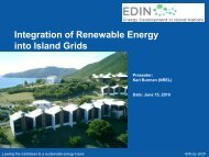 Integration of Renewable Energy into Island Grids