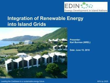 Integration of Renewable Energy into Island Grids
