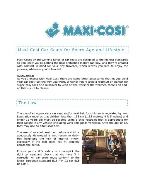 Maxi-Cosi Car Seats for Every Age