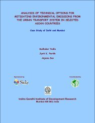 analysis of technical options for mitigating environmental emissions ...