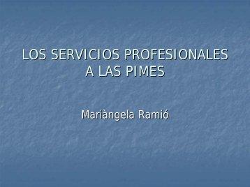 LOS SERVICIOS PROFESIONALES A LAS PIMES