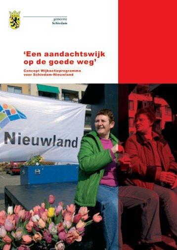 Wijkactieprogramma deel 1 downloaden - Nieuwland-Schiedam.nl