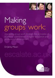 Making groups work - ESCalate