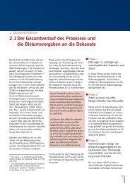 2.1 Der Gesamtverlauf des Prozesses und die ... - Bistum Osnabrück