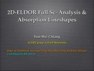 Full Sc- Analysis of 2D-ELDOR - acert - Cornell University
