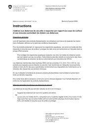 Instructions relatives aux distances de sécurité à respecter - Agridea