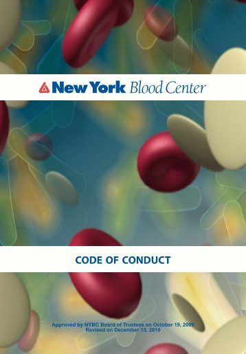 NYBC Code of Conduct (417.7 KB) - New York Blood Center