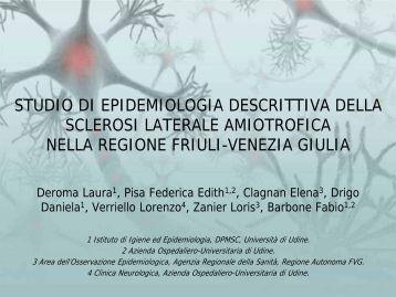 studio di epidemiologia descrittiva della sclerosi laterale amiotrofica ...