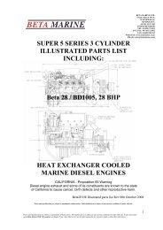 SUPER 5 SERIES 3 CYLINDER ILLUSTRATED ... - Beta Marine