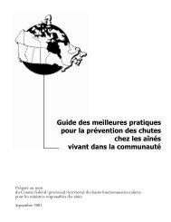 Guide des meilleures pratiques pour la prévention des chutes chez ...