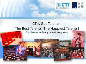 CTI's got Talents
