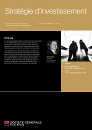 Stratégie d'investissement - Societe Generale Private Banking ...
