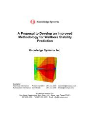 A Proposal to Develop an Improved Methodology for Wellbore ...