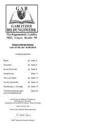 EINSCHREIBUNGEN vom 27.08. bis 14.09.2012 - Gablitz