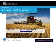 Food 2050 – Rural Enterprises - The UWA Institute of Agriculture