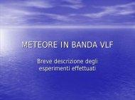 Meteore in banda VLF