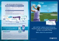 86% first fit success* clear - Eye Care Professionals -  CIBA Vision