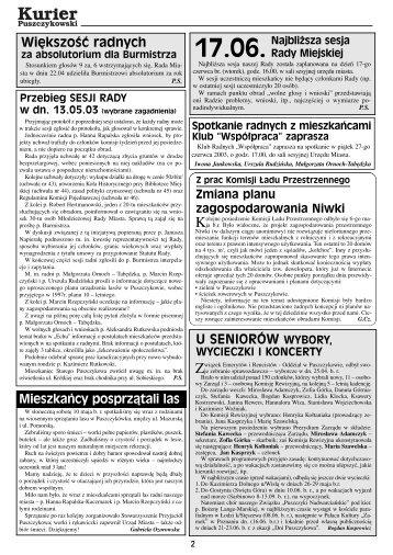 Kurier nr 21#okladka 3 - Stowarzyszenie Przyjaciół Puszczykowa