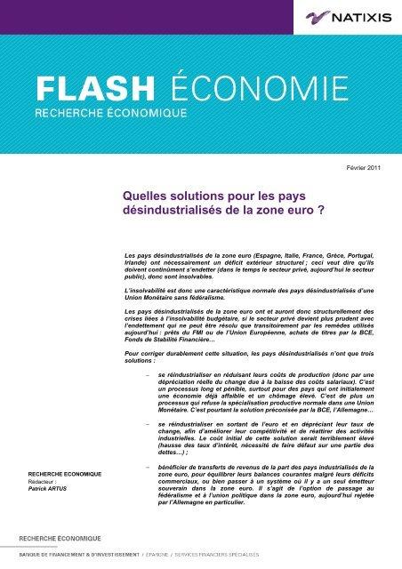 Quelles solutions pour les pays désindustrialisés ... - Sciences Po Aix