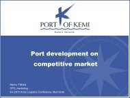 Port development on competitive market