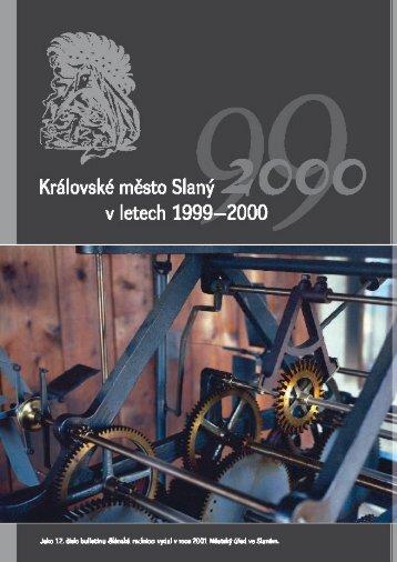 Město Slaný v letech 1999–2000 - kultura.slansko.cz