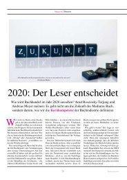 2020: Der Leser entscheidet