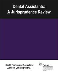 Jurisprudence Review - Health Professions Regulatory Advisory ...