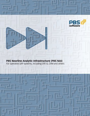 PBS Nearline Analytic Infrastructure (PBS NAI) - PBS Software