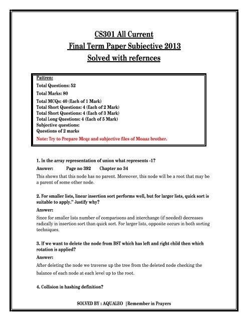 final term paper cs301