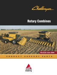 Challenger Rotary Combines - AGCO Parts