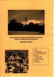 Sommer 2013 [1.2 MByte] - Evangelischer Kirchenbezirk Blaufelden