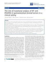The role of mutational analysis of KIT and ... - BioMed Central
