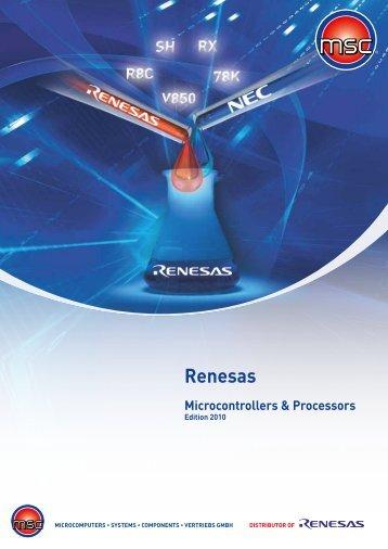 Renesas Microcontrollers & Processors - MSC Vertriebs GmbH