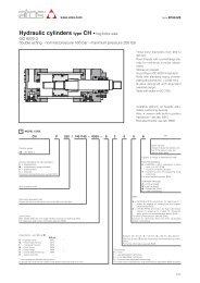 Hydraulic cylinders type CH • big bore size