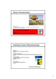Biologie I: Pflanzenphysiologie - ZMBH