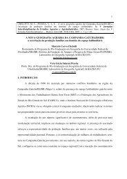 1 A NOVA GEOGRAFIA AGRÁRIA DA CAMPANHA ... - LAGEA