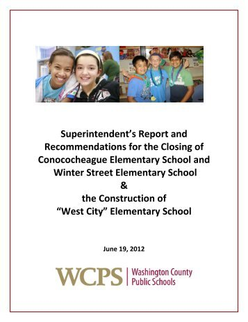 Superintendent's Report - Washington County, MD Public Schools