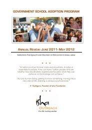 Year 1: 2011-2012 - Isha Outreach