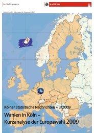 Wahlen in Köln — Kurzanalyse der Europawahl 2009