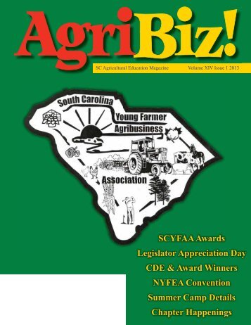 Volume XIV, Issue 1 - South Carolina Agricultural Education