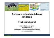 Bæredygtigt landbrug, analyse - Fremtidsforskeren Jesper Bo Jensen