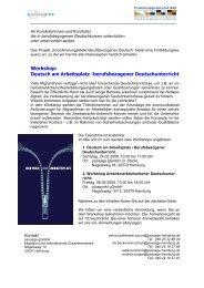 Workshop: Deutsch am Arbeitsplatz -berufsbezogener ... - access
