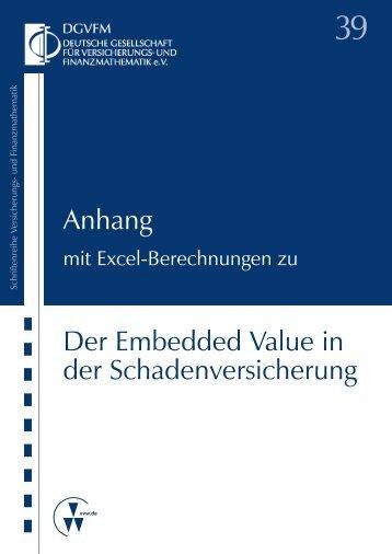 Der Embedded Value in der Schadenversicherung - Verlag ...