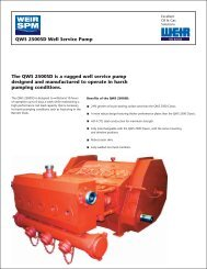 QWS 2500 SD PUMP FLYER - FRONT - Weir Oil & Gas Division