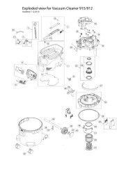 Exploded view for Vacuum Cleaner 915/912 - Mirka