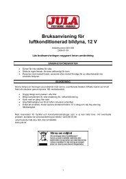 Bruksanvisning för luftkonditionerad bildyna, 12 V - Jula
