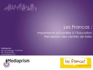 ENQUETE FRANCAS 26 juin 2012.pdf - Portail éducation - les Francas
