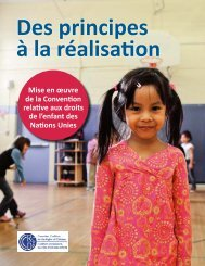 les droits de l'enfant - Canadian Coalition for the Rights of Children